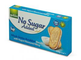 Gullón Jogurttitäytekeksi 220g, Ei lisättyä sokeria