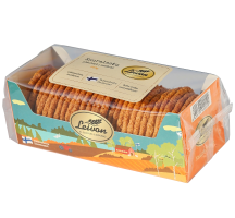 Leivon Kauralastu 250g maidoton, saattaa sisältää pieniä määriä soijaa, mantelia ja muita pähkinöitä.